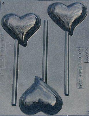 SINGLE TEARDROP HEART LOLLIPOP VALENTINE CHOCOLATE CANDY MOLD PARTY FAVOR  EC