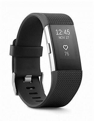 Fitbit Charge 2 Heart Rate+Fitness Wristband Blk FB407SBKS - LCD HAS SCRATCHES