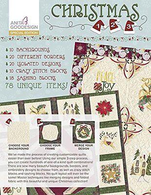 Anita Goodesign Embroidery Machine Design CD CHRISTMAS 1,2,3 SPECIAL EDITION