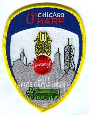 Chicago Fire Department O'Hare International Airport ARFF Patch Illinois IL