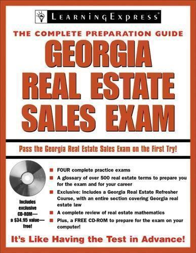Real Estate Exam Prep  and Career Guides: Georgia Real Estate Sales Exam by  LearningExpress Staff (2007, CD-ROM / Paperback)