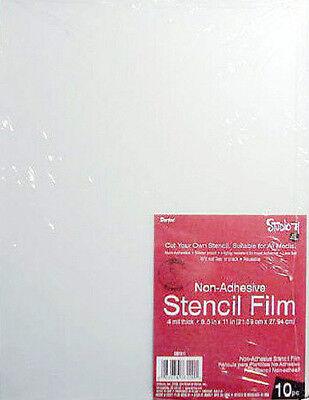 BLANK STENCIL FILM  Make your own Stencils 10pk 8 1/2  x 11 sheets 4 mil