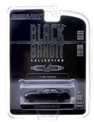 BLACK 2013 CHRYSLER 300 SRT GREENLIGHT 1:64 SCALE DIECAST METAL MODEL CAR  Chrysler Diecast Model Car