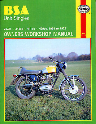 Haynes Manual No. 0127 Motorbike/Motorcycle for BSA Starfire (247cc) 68-70