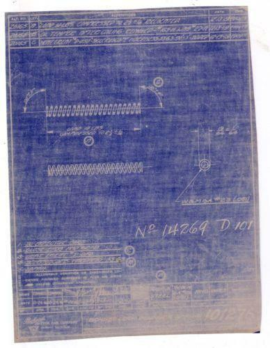 Vintage blueprints ebay malvernweather Choice Image