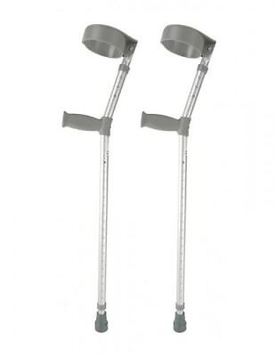 Height Adjustable Elbow Crutches Comfy Handle - Pair