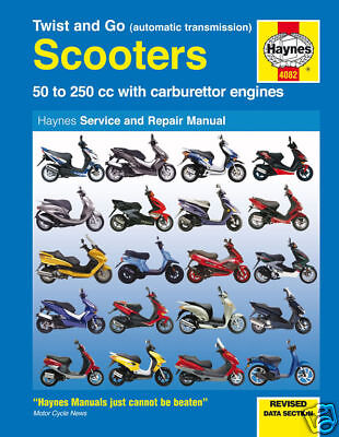 Scooter Manual Haynes: Twist & Go Automatic Scooter 4082 NEW