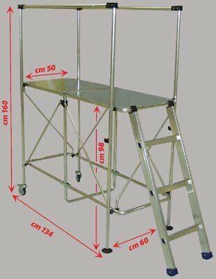 Plataforma Aluminio Trabajando Mini Andamio Torre Escalera 3M Altura