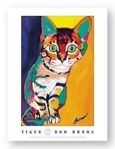 CAT ART PRINT Tiger Ron Burns