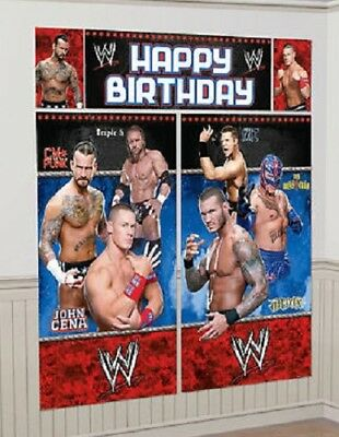 Home Decor Home Parties WWE Scene Setter HAPPY BIRTHDAY Party Wall Decor Kit Over 6' WRESTLING Cena Rock
