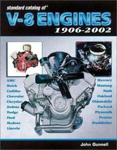 Standard Catalog of V-8 Engines, 1906-2002 by John Gunnell * NEW & FREE SHIP