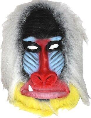 Madagascar Baboon Mask Latex Adult Size Monkey Jungle Ape NEW - Latex Monkey Mask