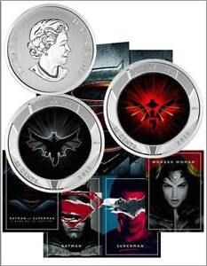 2016 Batman V Superman $0.25 Lenticular Complete 3 Coin & Cards