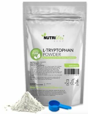 NVS 100% PURE L-TRYPTOPHAN AMINO ACID POWDER USP GRADE SLEEP AID DIET NONGMO -