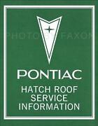 Pontiac Firebird Repair Manual