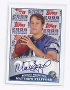 Matthew Stafford Auto