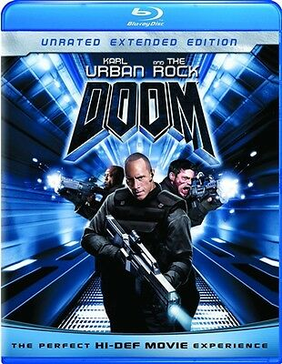 Doom New Sealed Blu Ray Unrated Extended Edition Dwayne Johnson Karl Urban