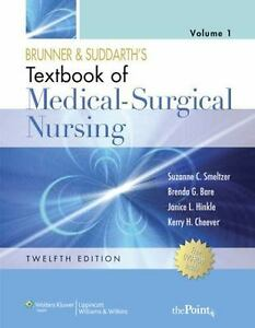 Textbook of medical surgical nursing 12th edition brunner and image is loading textbook of medical surgical nursing 12th edition brunner fandeluxe Image collections