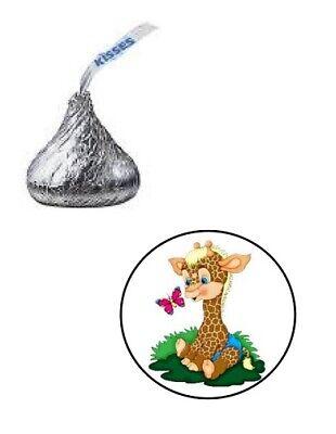 Baby Shower Giraffe (108 GIRAFFE BABY SHOWER HERSHEY KISS CANDY LABELS STICKERS 0.75