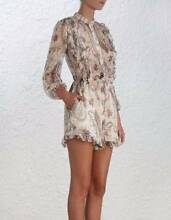 NEW Zimmermann Mischief Frill Silk Playsuit Dress Size 0 Canterbury Boroondara Area Preview