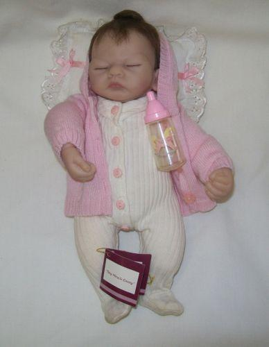A reborn doll is a manufactured doll that has been transformed by an artist to resemble a human infant with as much realism as possible. The process of creating a reborn doll is referred to as reborning and the doll artists are referred to as reborners. Reborn dolls are also known as lifelike dolls or reborn baby dolls.. The hobby of creating reborn baby dolls began around when doll.