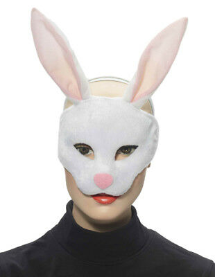 Rabbit Half Adult Animal Halloween Costume Mask - Rabbit Half Mask