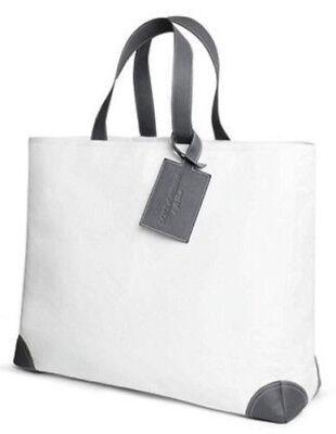 DOLCE & GABBANA Light Blue Large Tote Bag Leather Straps Shopping Weekender Bag