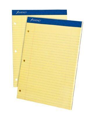 Ampad Legal Pad - Ampad Double Sheet Legal-ruled Writing Pad - 100 Sheet - 15 Lb - 8.50