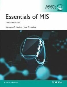 Essentials of MIS by Jane Laudon, Kenneth C. Laudon (Paperback, 2016)
