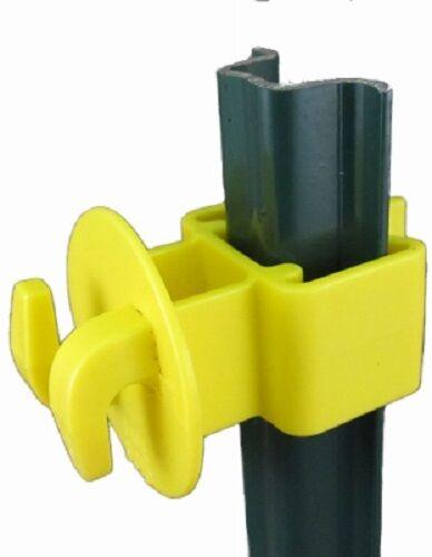 Dare, 50 Pack, Yellow, Garden U-Post Insulator