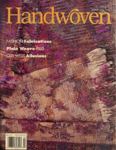 Handwoven magazine mar/apr 1996: silk, bronson lace, plain weave, saddle blanket