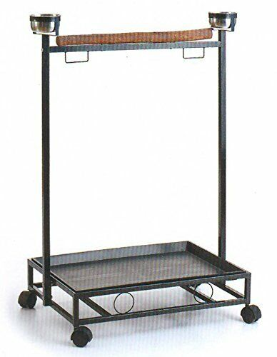 Large Wrought Iron Parrot Bird Play Stand Play Gym Play Ground Rolling Stand