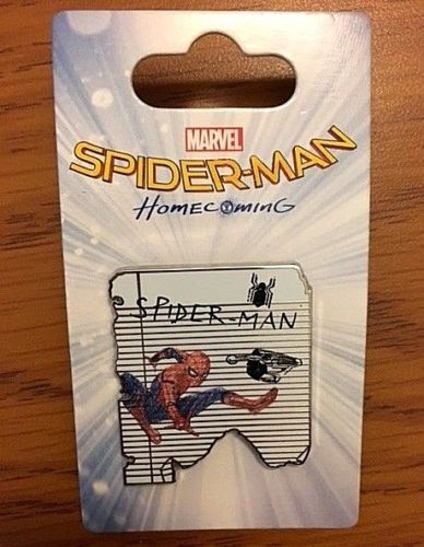 MARVEL Disney SPIDER-MAN HomecominG SPIDER-MAN Pin New on Card Retired