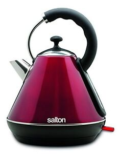 Salton JK1570 Cordless Electric Kettle, 1.8 L, Metallic