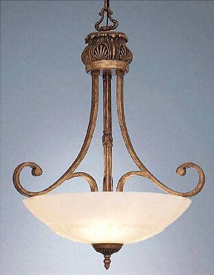 European Gold 3 Light - European Gold  3 Light And Molded Art Stone Glass Chandelier/Pendant
