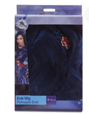 New Disney Store Descendants Blue Evie Hair Wig Dress Up Girls Costume