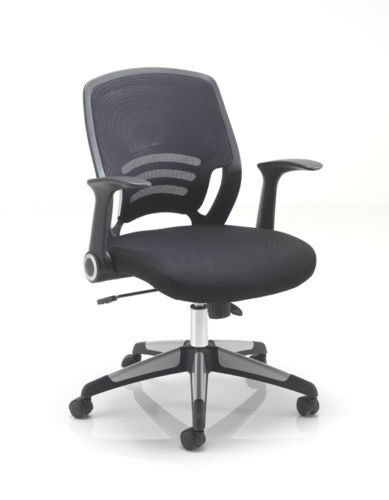Carbon Luxury Task Innovate Swivel Office Chair in Black CH1730