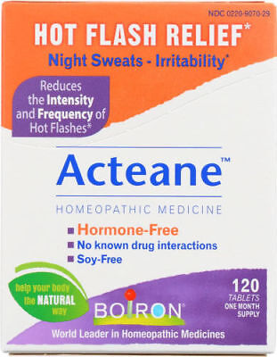 Boiron Acteane Homeopathic Medicine for Hot Flash Relief 120 (Hot Flash Medicine)