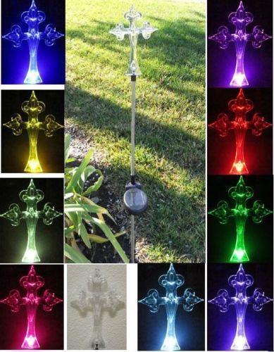 Solar Lighted Cross Ebay
