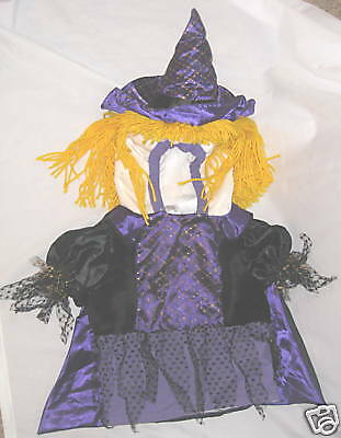 Purple 1 to 2 Year Old Witch Halloween Costume w Hood
