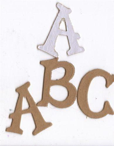 Chipboard letters ebay for Where to buy chipboard letters