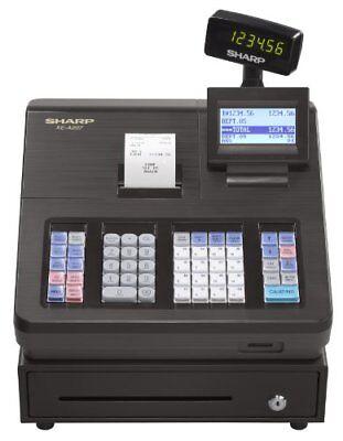 Sharp Cash Register - 2000 PLUs - 25 Clerks - 99 Departments - Thermal Printing