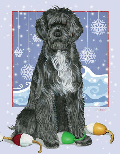 Portuguese Water Dog Portie Christmas Cards Set of 10 cards & 10 envelopes