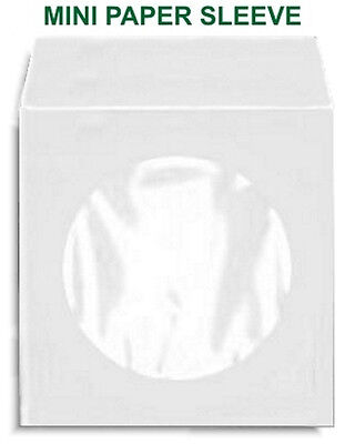 200-pak 3-inch Mini 80g Paper Cd Sleeves With Window Flap