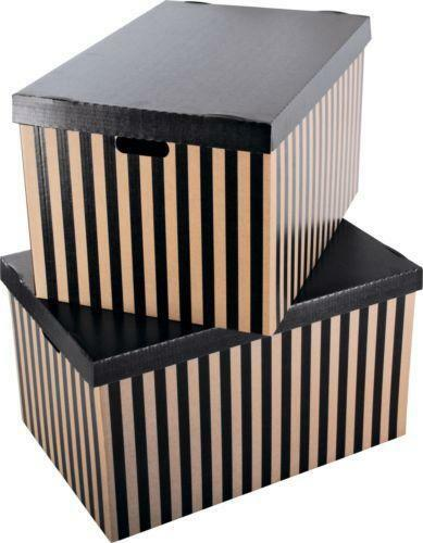 large decorative storage boxes ebay. Black Bedroom Furniture Sets. Home Design Ideas