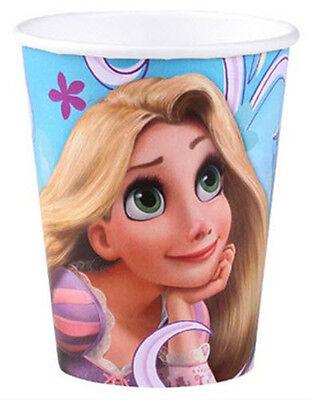 Disney Tangled Princess Rapunzel PAPER CUPS birthday party supplies 8pc 9oz