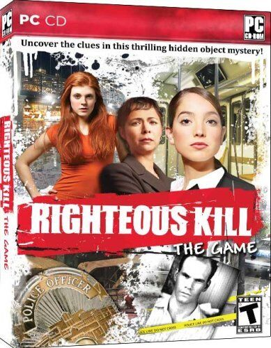 Computer Games - Righteous Kill The Game PC Games Window 10 8 7 XP Computer hidden object mystery