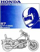 Honda Shadow 1100,. Owners Manual