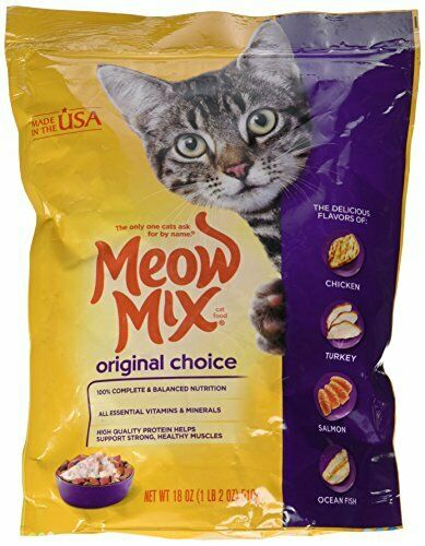 Meow Mix Original Choice Dry Cat Food 18oz Bag