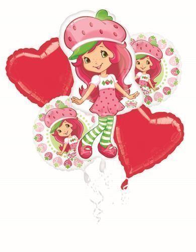 Strawberry Shortcake Party Supplies Balloon Bouquet